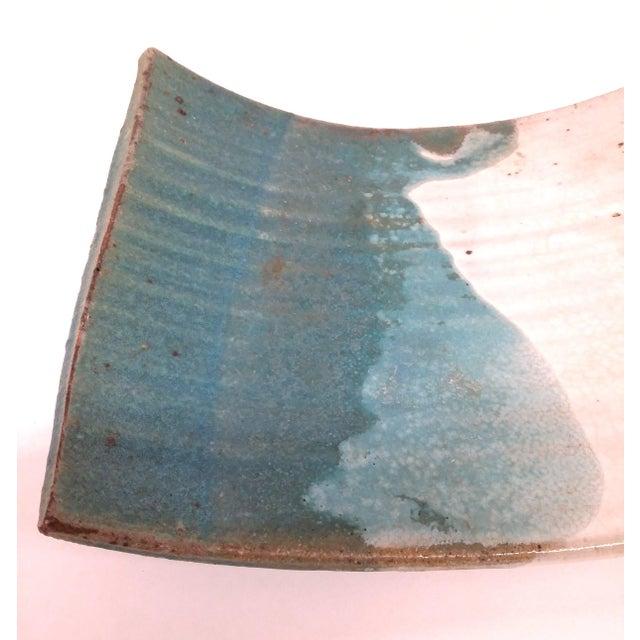 Mid-Century Artisan Ceramic Sushi Tray For Sale - Image 5 of 10