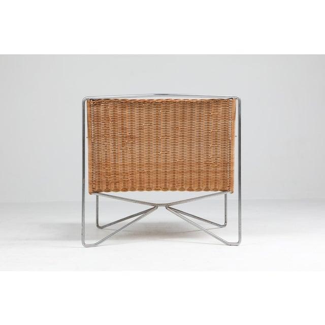 Rattan & Steel Armchairs by Gelderland - 1964 For Sale - Image 12 of 13