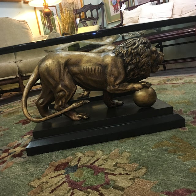 Medici Bronze Lions Cocktail Table - Image 6 of 10