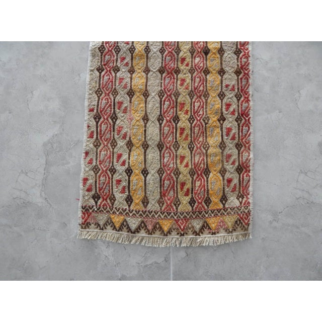 Masterwork Hand-Woven Rug Braided Small Kilim For Sale In Dallas - Image 6 of 8