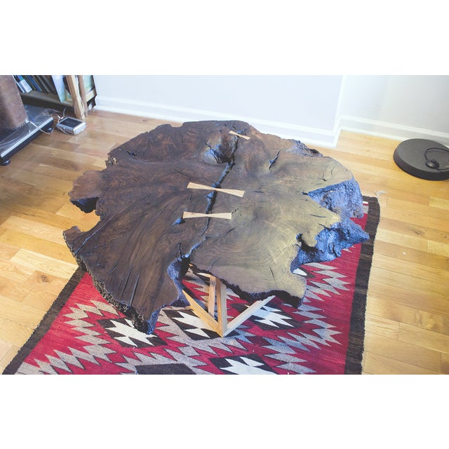 Black Walnut Root Burl Coffee Table - Image 4 of 10