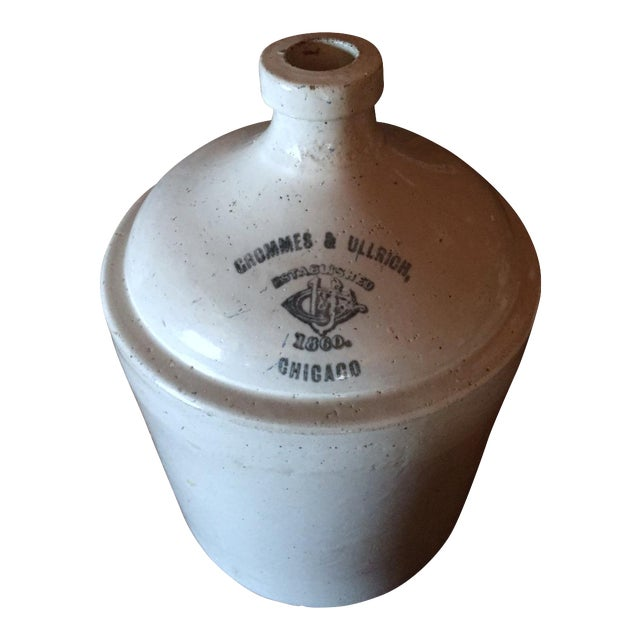 Grommes & Ullrich Pre-Prohibition Whiskey Jug Circa 1890's For Sale