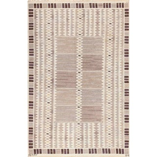 Vintage Marta Maas Scandinavian Rug by Barbro Nilsson - 5′10″ × 9′9″ For Sale