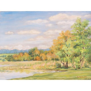 Post-Impressionist Lake Scene, 1940 For Sale