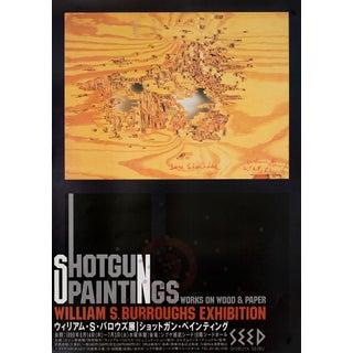 William Burroughs 1990 Original Exhibition Poster