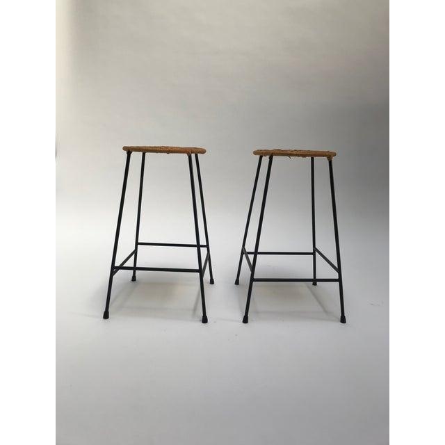 Vintage Arthur Umanoff metal frame counter stools - a Pair - Image 3 of 11