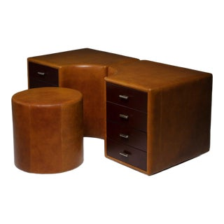 Set of Two Chest of Drawers and Stools by Guido Faleschini for I 4 Mariani For Sale