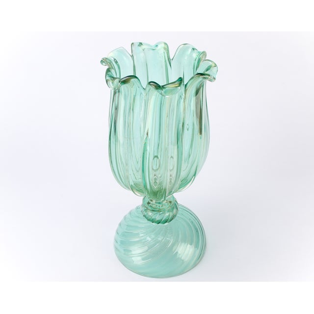 Italian Large Archimede Seguso Signed Murano Votives - a Pair For Sale - Image 3 of 5