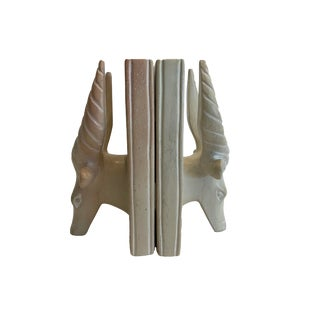 Late 20th Century Vintage Stag Horn Bookends- A Pair For Sale