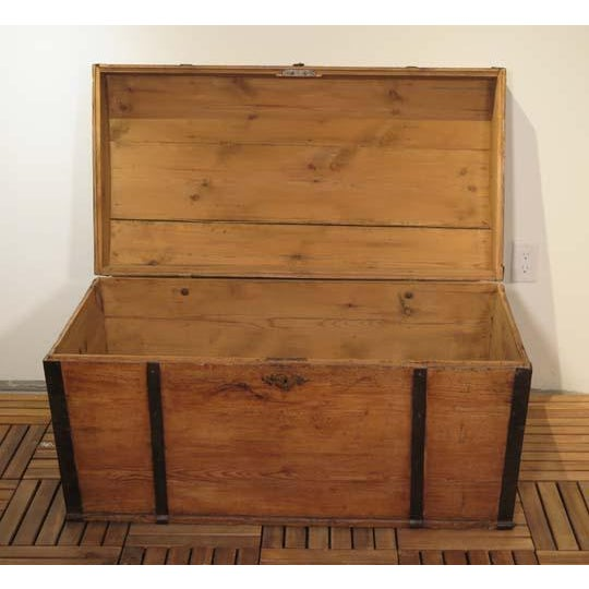 Late 19th Century English Pine Dome Top Box For Sale - Image 5 of 6