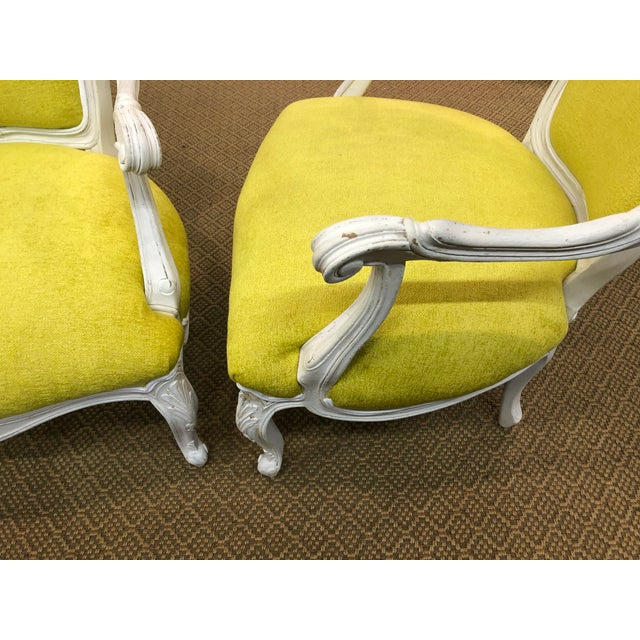 Vintage French Style Chairs- A Pair For Sale In Nashville - Image 6 of 8
