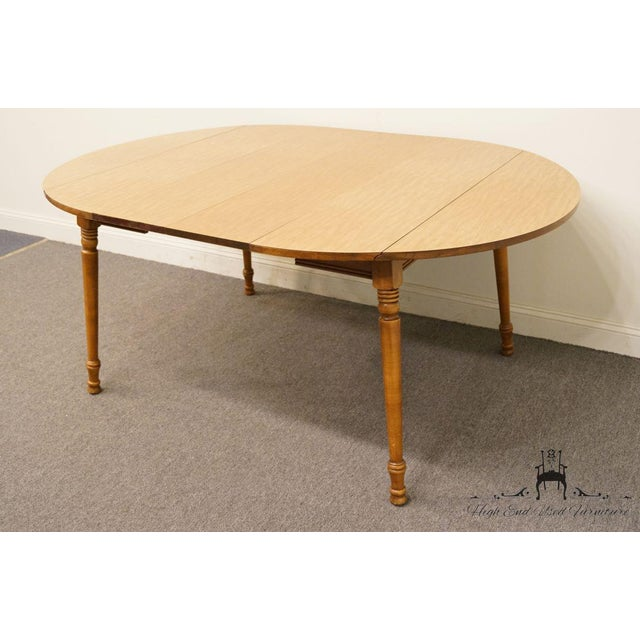 Late 20th Century Vintage Tell City Maple Drop Leaf Dining Table For Image