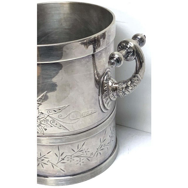 American Aesthetic Silver Plated Champagne/Ice Bucket, by Meriden Silver Co For Sale In Atlanta - Image 6 of 10