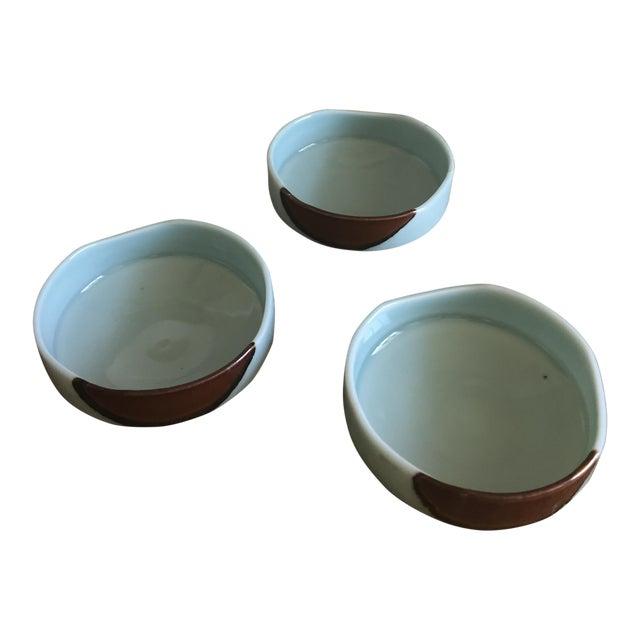 Handmade Ceramic Serving Bowls - Set of 3 For Sale