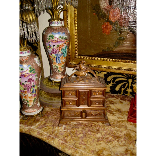 19 Century Black Forest Jewelry Box For Sale - Image 11 of 12