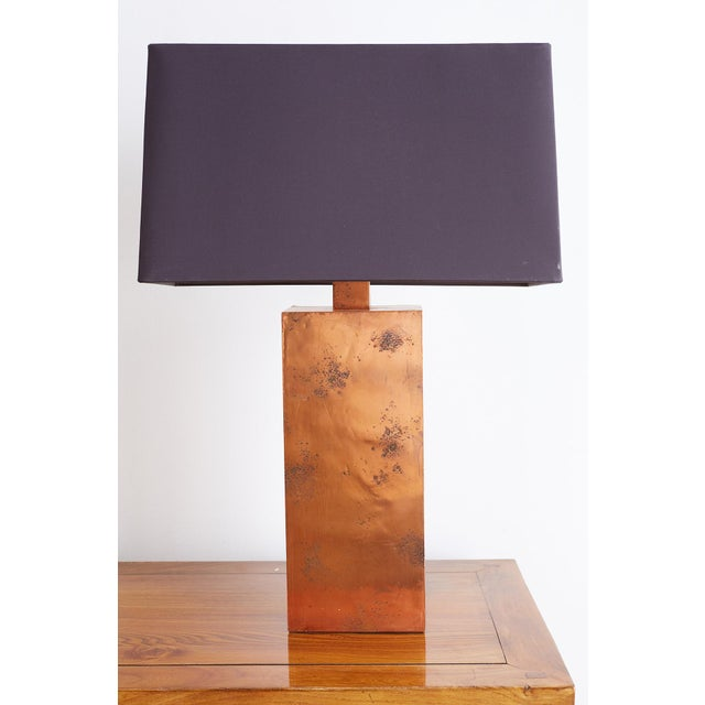 Late 20th Century Patinated Copper Lamps by Arteriors Tanner Kenzie For Sale - Image 5 of 13