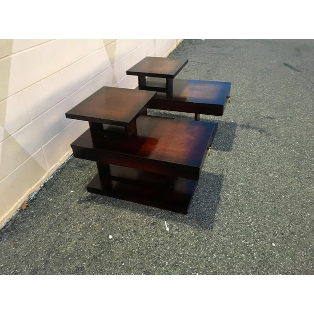 Brutalist 1960s Mid Century Modern Brutalist Lane Side Tables - a Pair For Sale - Image 3 of 12