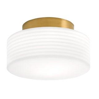 Capri Single Brushed Brass Ceiling Light For Sale