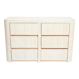 Vintage Boho Chic Gabriella Crespi Split Reed Rattan Double Dresser 1980s