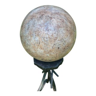Vintage Faux Stone Metal Ball For Sale