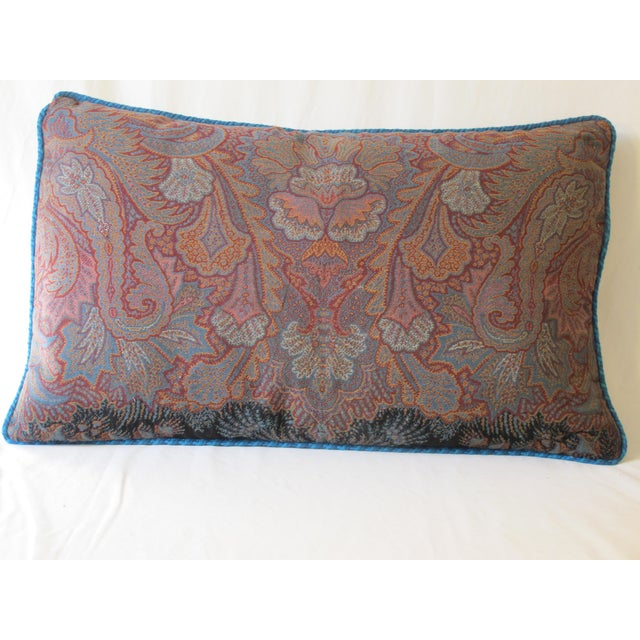 Traditional Antique Wool Paisley & Tartan Pillow For Sale - Image 3 of 3