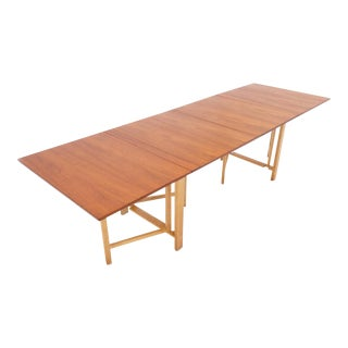 Signed Bruno Mathsson Gate Lag Maria Extension Dining Table For Sale