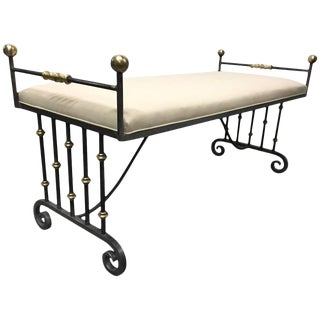 French Iron and Bronze Bench For Sale