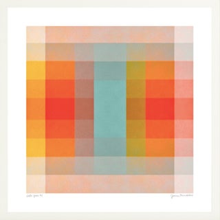 """""""Color Space Series 40: Turquoise Persimmon & Saffron"""" Print by Jessica Poundstone, Framed For Sale"""