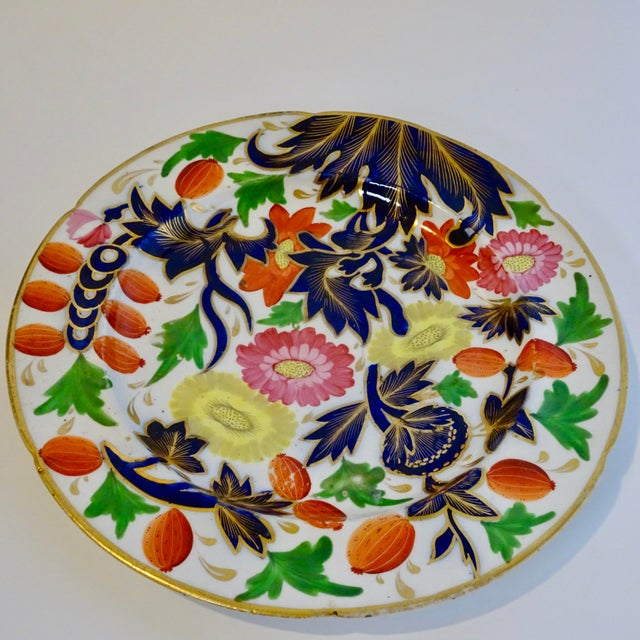 Late 19th Century 19th Century Porcelain Plate With Decorative Floral Design For Sale - Image 5 of 10