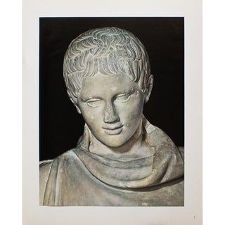 """""""Head of Marble Statue of a Young Athlete Resting"""", Original 1940s Swiss Photogravure For Sale"""