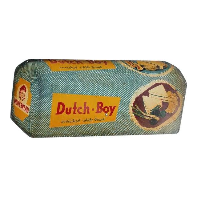 1950's Retro Advertising Masonite Dutch Boy Sign For Sale