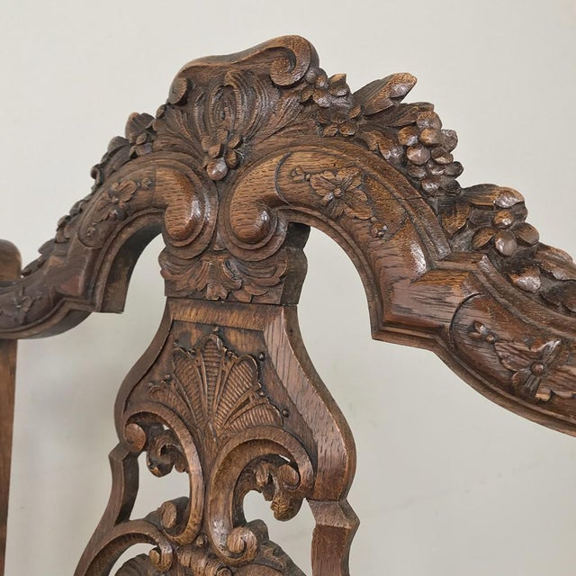 Pair 19th Century Liegoise Louis XIV Armchairs For Sale In Dallas - Image 6 of 12