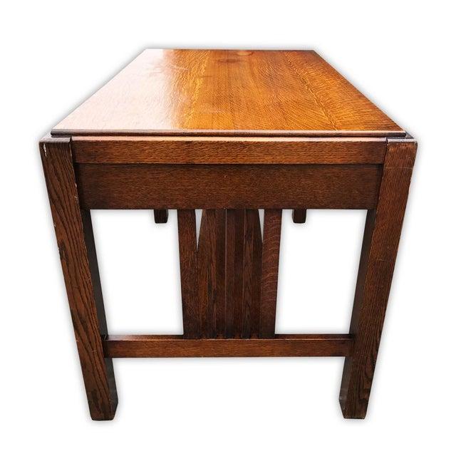 Antique Mission Oak Arts & Crafts Desk - Image 3 of 6