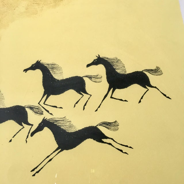 Framed Mustang Lithograph by Keith DeCarlo For Sale In Richmond - Image 6 of 8