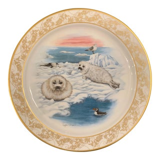 Lynn Chase Lenox Nature's Nursery Harp Seal Plate For Sale