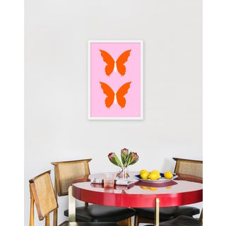"Medium ""Butterfly Orange and Pale Pink"" Print by Wendy Concannon, 17"" X 21"" Preview"