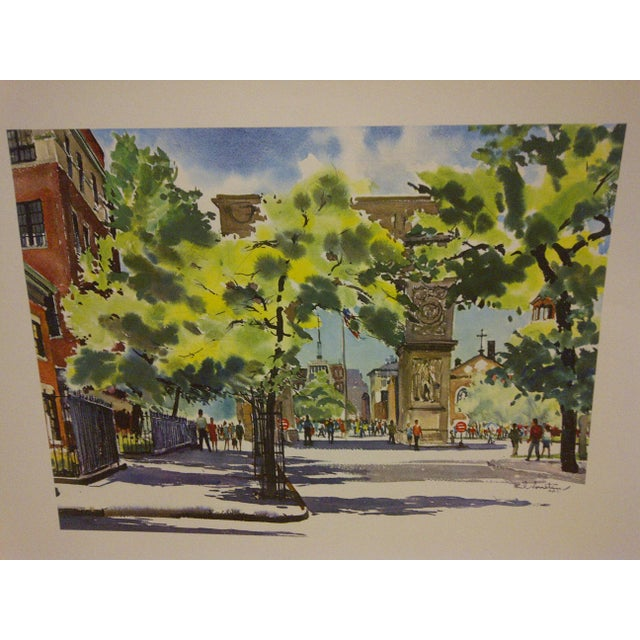 "Americana Phil Austin ""Washington Square"" United Airlines Print For Sale - Image 3 of 5"