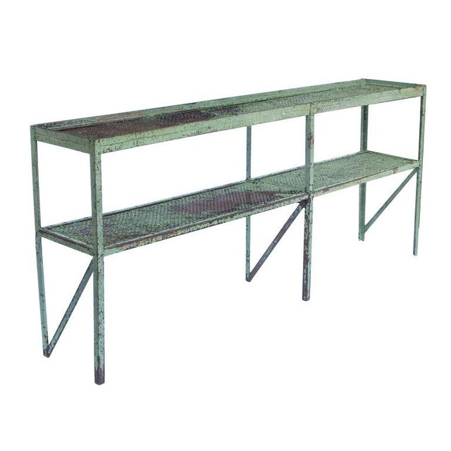 Long Narrow Industrial Mesh Console - Image 4 of 11