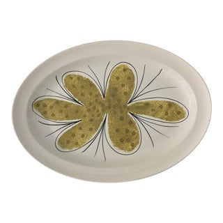 1970s Contemporary Vera Jamaican Hand Painted Serving Platter For Sale