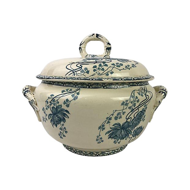French Transferware Covered Tureen - Image 1 of 3