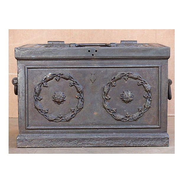 Antique Iron Safe For Sale - Image 5 of 10