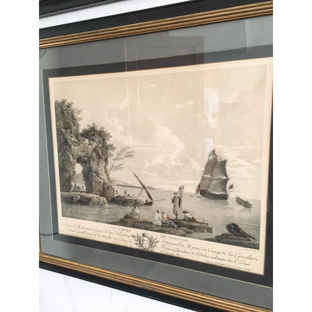 Glass Antique French Nautical Engravings - a Pair For Sale - Image 7 of 12