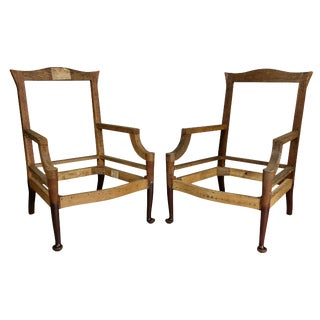 American Colonial Revival Mahogany Armchairs For Sale