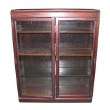 Image of Antique Mahogany Bookcase / Display Cabinet For Sale