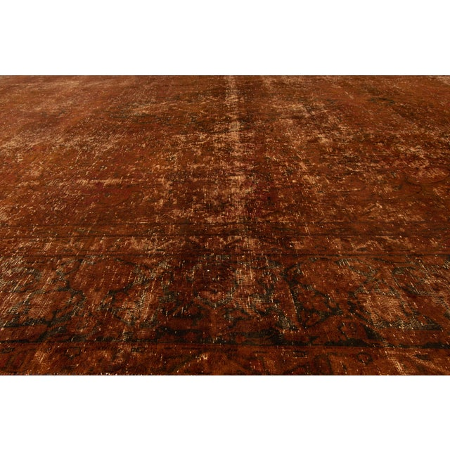 "Apadana - Vintage Overdyed Rug, 9'5"" X 13'9"" For Sale In New York - Image 6 of 7"