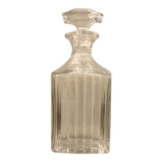 Baccarat French Crystal Harmonie Square Decanter For Sale