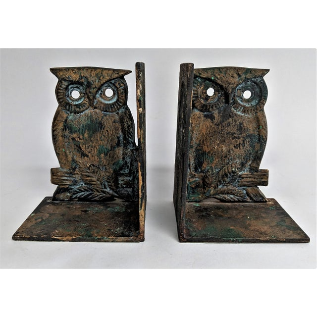 Vintage Metal Owl Bookends - A Pair - Image 9 of 9