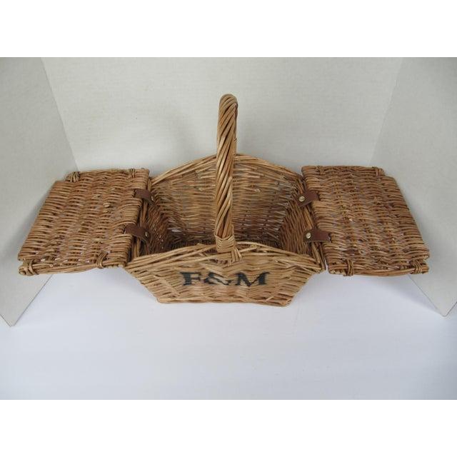 Small Fortnum & Mason Mini Hamper Basket For Sale - Image 5 of 5