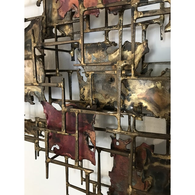 """Huge 72""""wide Signed Silas Seandel Brutalist Nail Sculpture Wall Art Mid Century For Sale - Image 9 of 13"""