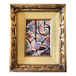 "Original Contemporary Stephen Heigh ""Movement ""Abstract Painting Vintage Ornate Frame With Velvet Liner For Sale"